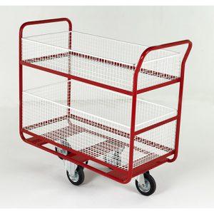 Basket Distribution Trolley with optional Hook-On End Basket-0