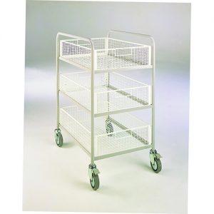 Basket Trolley with 3 basket shelves-0