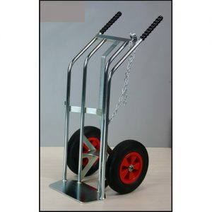 Heavy Duty Cylinder Trolley with optional 3rd wheel attachment-0