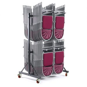 Hanging Chair Storage Trolley with 2 Decks-0