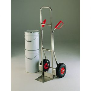 Stainless Steel Sack Truck with Pneumatic Wheels-0