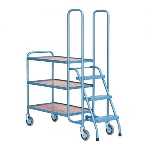 Warehouse Picking Trolley with Steps-0
