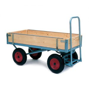 Medium Turntable Trolley with Hinged Sides-0