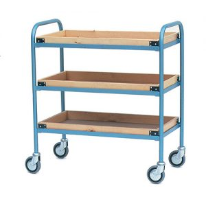 Shelf Trolley with Wooden Trays-0