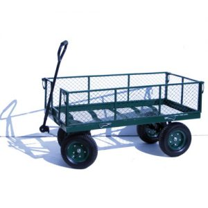 Heavy Duty Turntable Platform Trolley with Mesh Sides-0