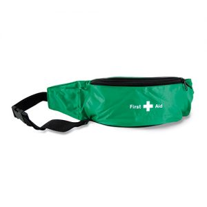 1 Person First Aid Kit in Green Belt Bag-0