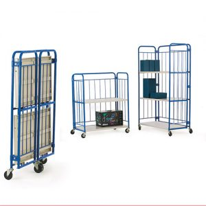 Folding Shelf Cage Trolley-0