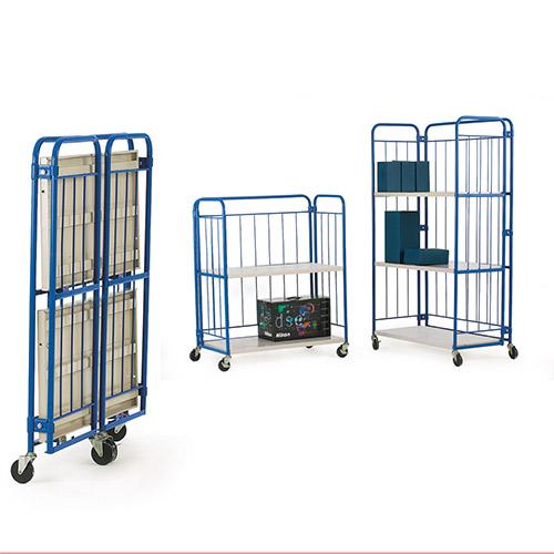 Folding Shelf Cage Trolley-0