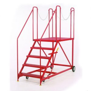 Easy-Rise Steps with Truck / Dock Platform -0
