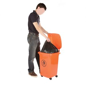 WB0986 - Wheelie Bin, 50 Litre on 4 x 50mm nylon castors-0