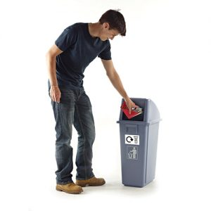 WB0985 - Recycling Bins, Set of 3 supplied with 5 identification stickers-0