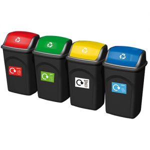 WB0984 - Recycling Bins, Set of 4-0