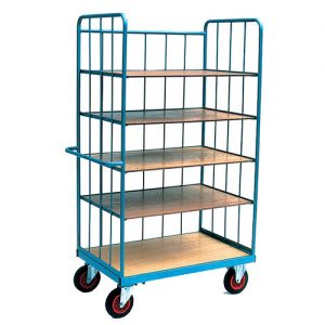Heavy Duty Warehouse Trolley with Loose Shelves-0