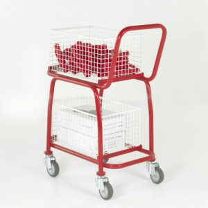 Two-Tier Basket and Tray Trolley-0