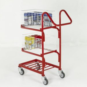 Three-Tier Basket and Tray Trolleys-0