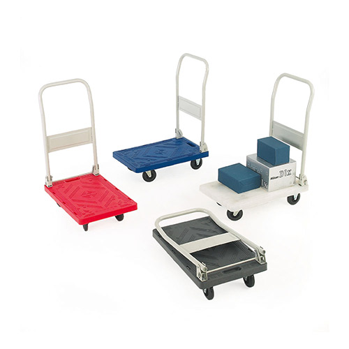 Plastic Platform Folding Handle Trolley-0