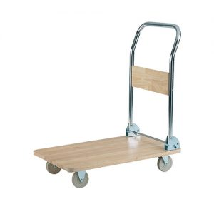 Wooden Deck Platform Trolley-0