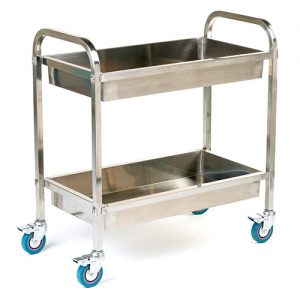 Stainless Steel Trolley with Deep Shelves-0