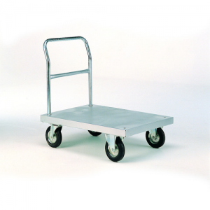 Zinc Plated Platform Trolleys with Tube End-0