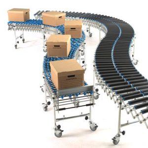 500mm Wide Expanding Roller Conveyor-0