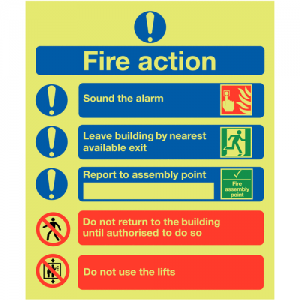Fire Action Signs-0