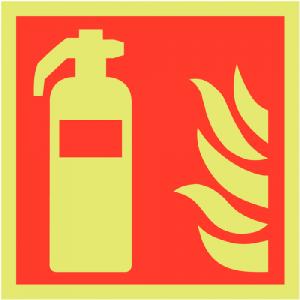 Photoluminescent Fire Extinguisher Sign-0