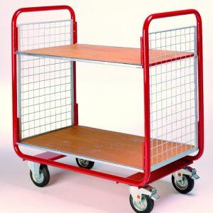 General Duty Shelf Trolley with 2 Decks-0