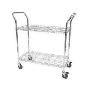 Chrome Wire Lipped Trolleys-0